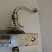 Vintage Chrome Brass Lever Door Knob and Lock