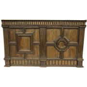XVI Century Walnut Italian Panel Architectural