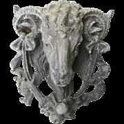 Lead Ram's Head Mask Garden