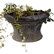 English 18th Century Cistern Planter Dated Initials Garden