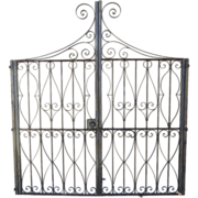 Pair of Wrought Iron gates Vintage