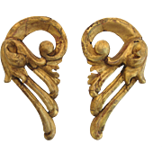 Pair of 19th Century Carved Gilt Fragments