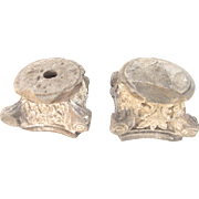 19th Century Pair of English Neo-Gothic Limestone Capitals