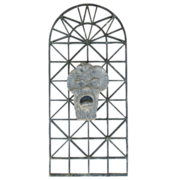 Lead Fountain Spout with Mask Motif