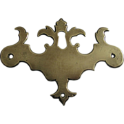 Large 18th Century Brass Chippendale Keyhole Escutcheon Hardware