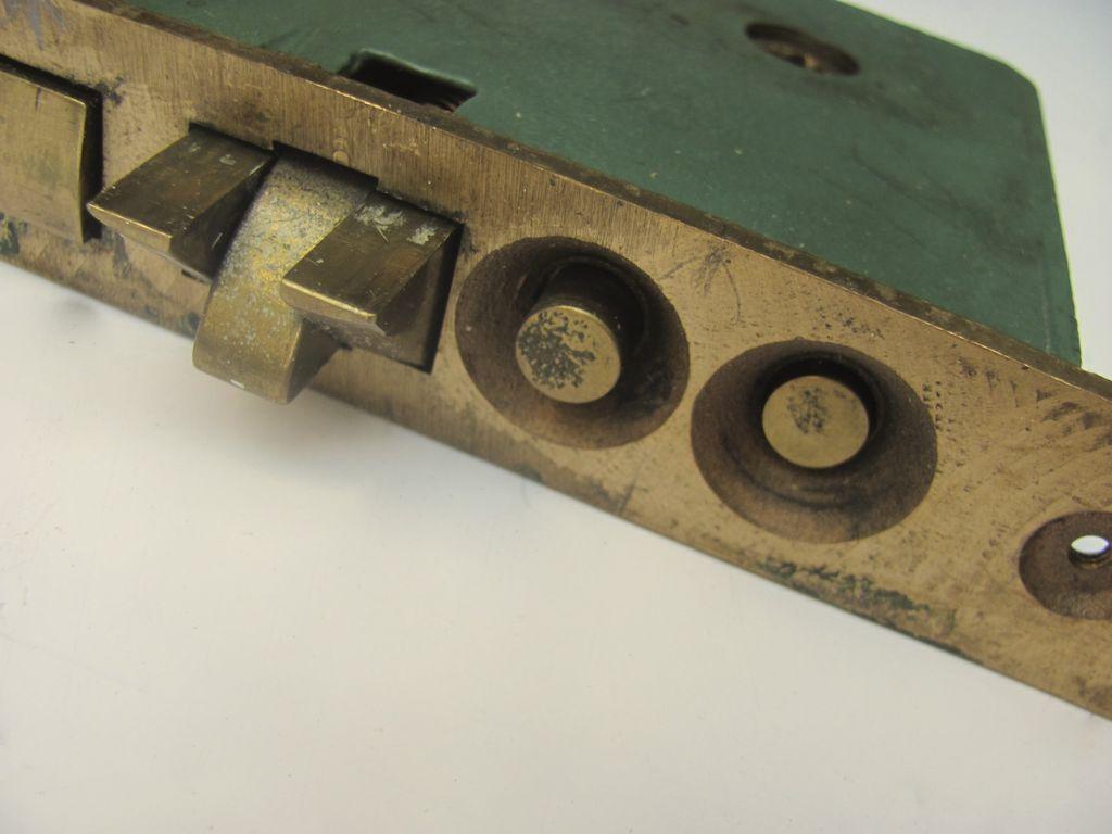 Vintage Corbin Brass Door Entry Mortise Lock Set W Handles