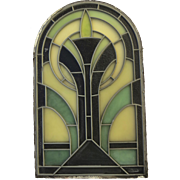 Vintage Arched Deco Style Window Stain Glass