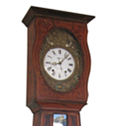 French Faux-Painted Morbier Clock