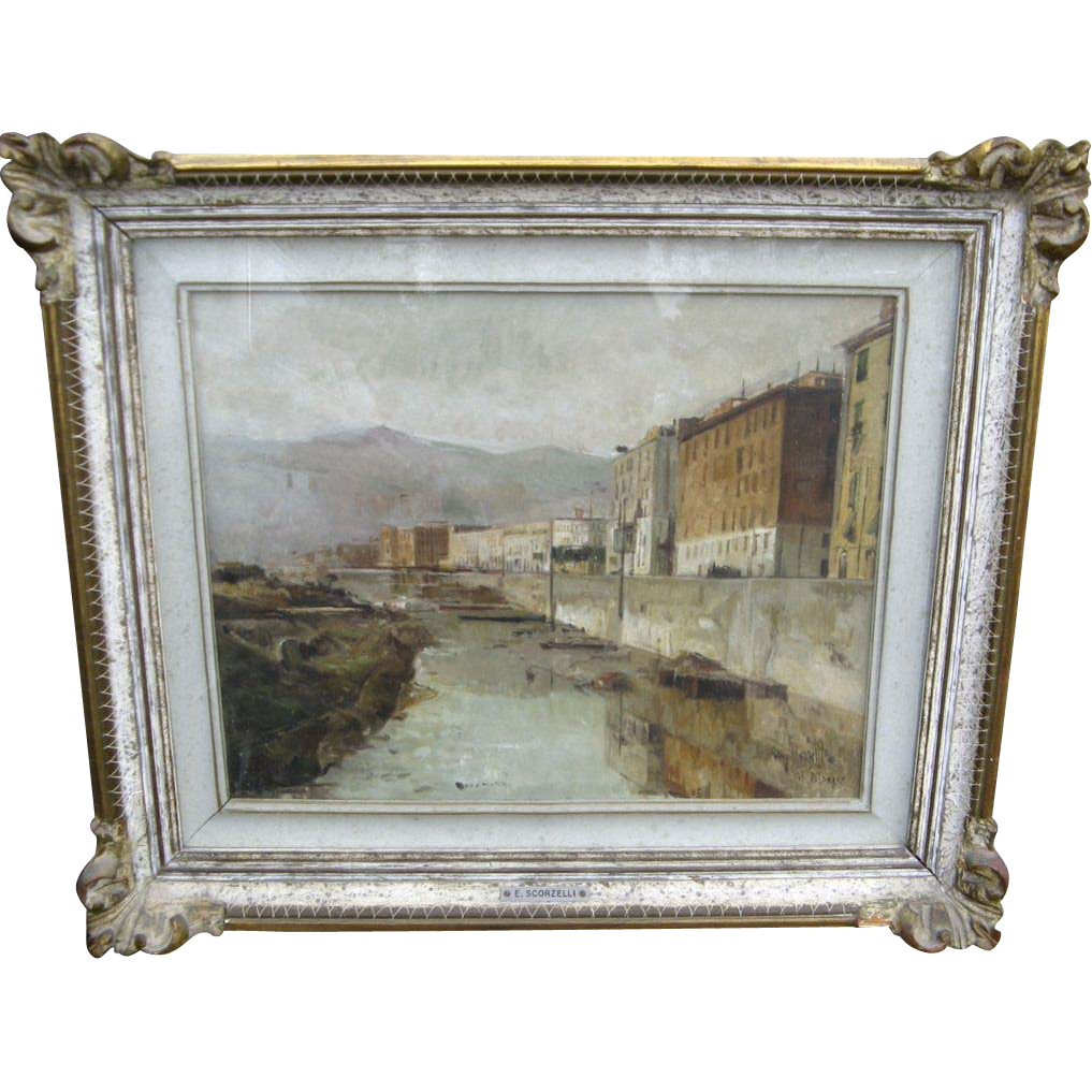 Oil on Canvas by Eugenio Scorzelli (1890-1958)