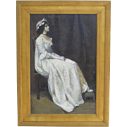 Oil on Canvas of a Young Woman