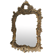Mirror Heavily Carved Walnut Rococo Style.