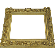 19th Century Elaborate Gilt Gesso Picture Frame Non Directional