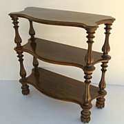 English Regency Rosewood Etagere Wonderful Melon Ribbed Feet