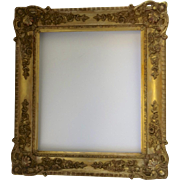 19th Century Gilt Gesso Wood Mirror Rectangle Frame Non Directional