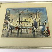 Watercolor by Federico Frederic Lloveras Herreras 1912 - 1983 Spain
