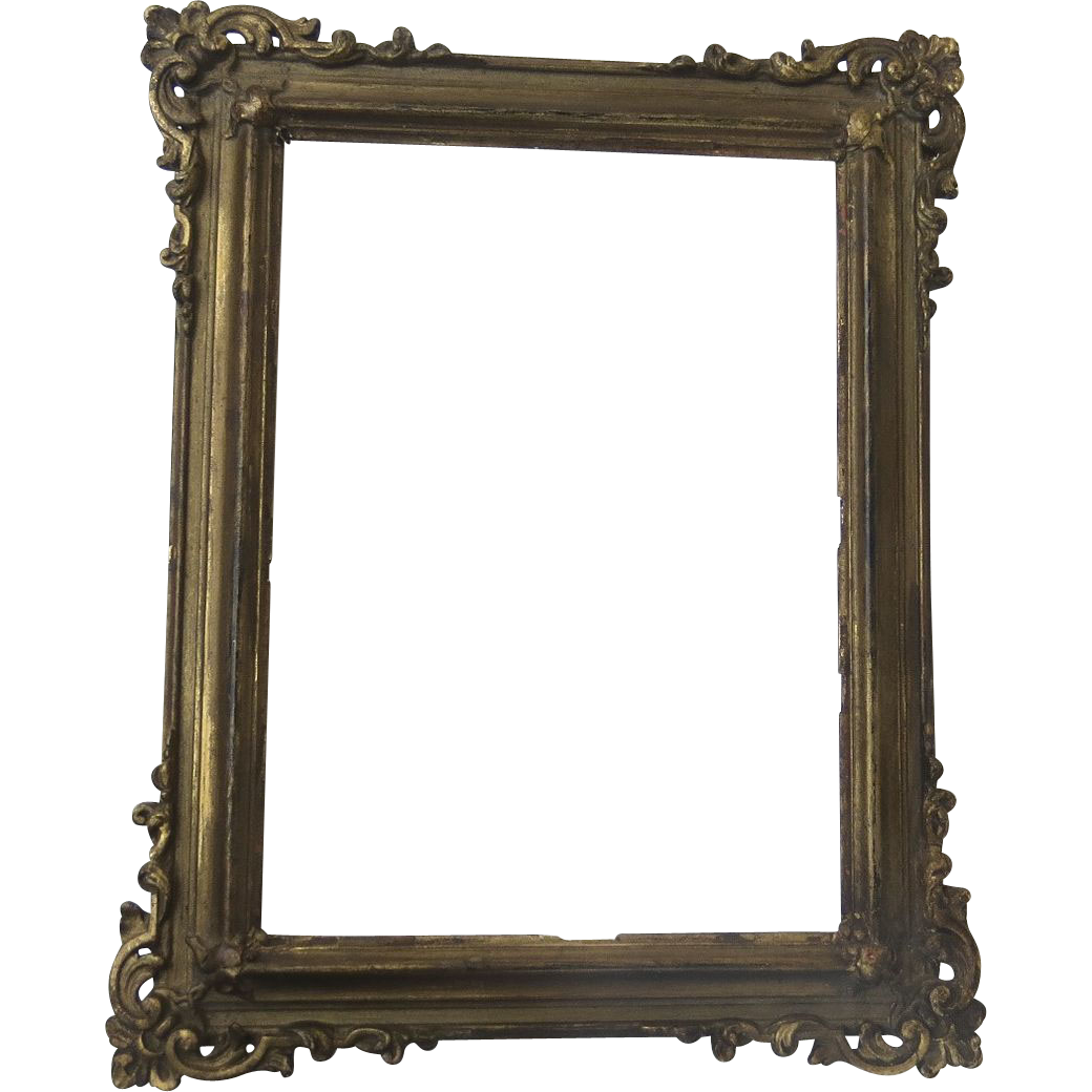 Victorian Small Gilt Frame from blacktulip on Ruby Lane