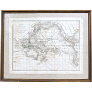 Map Carte de l'Oceanie ou cinquieme partie du monde  Ambroise Tardieu 1821