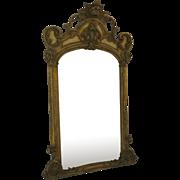 Larfe American Gesso Gilt Mirror French Style c 1880