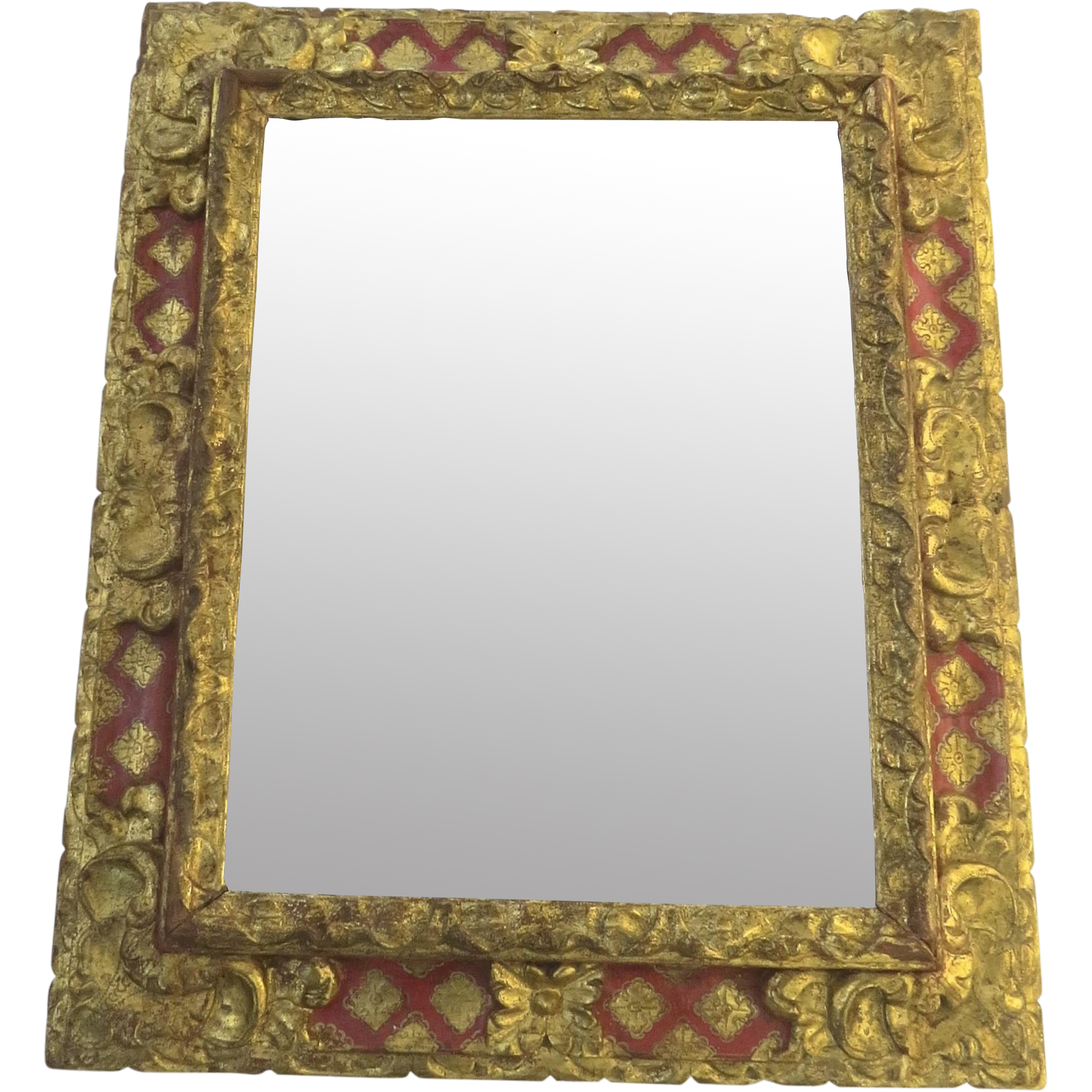 Late 18th century italian baroque mirror from blacktulip for Italian baroque mirror