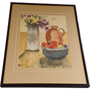 Still Life Watercolor by Colorado Artist Sheila Carter Signed 1980's