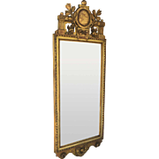 19th Century Swiss Carved Gilt Mirror