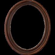 Vintage Walnut Oval Frame Molded Profile Non Directional