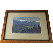 Signed Landscape Watercolor by Greg (Gregory) McHuron  (1945 - 2012)