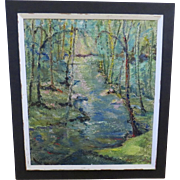 Large Sized Oil on Canvas 20th Century Landscape by Sophia A. Siegel