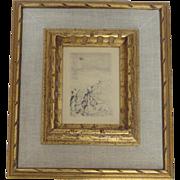 Pierre-Auguste Renoir Etching Sur la Plage, a Berneval