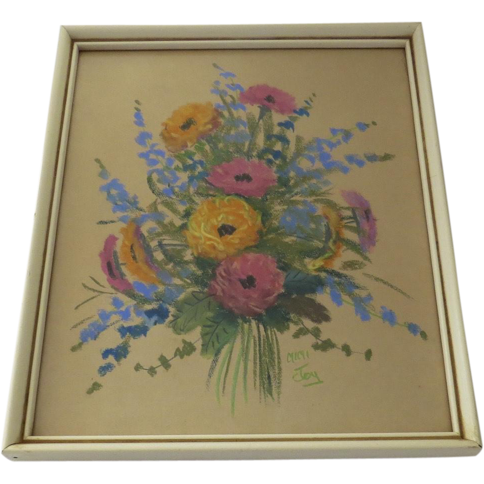 Original Pastel Picture by Mimi Joy AKA Mabel C. Heyde