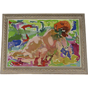 Painting Oil on Canvas by Elsa Frame Hutchins Abstract 1969