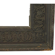 French Early 19th Century Walnut Carved Frame Non Directional