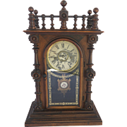 "Late 19th Century Welch ""Patti V.P."" Mantel Clock, Circa 1875."
