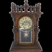 "Late 19th Century Welch ""Patti V.P."" Mantel Clock, Circa 1875."