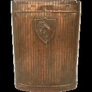 19th Century German Copper Grape Hod Bear and Shield Motif M.1590