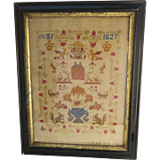 Cross Stitch Sampler American Early 19th Century