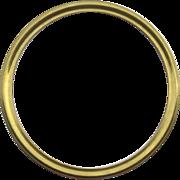 Vintage Round Solid Brass Frame