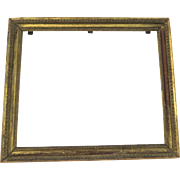 Early 19th Century Gilt French Frame Beaded Edge Shabby