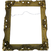 Vintage Gold Frame Needs Work Sold As Is