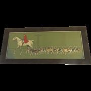 Chromolithograph Hunt Scene by Cecil Aldin (1870 - 1935) Equestrian Horse Dogs