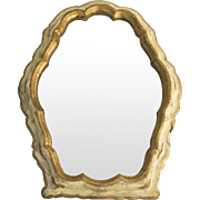 Vintage Painted Florentine Shaped Dressing Mirror