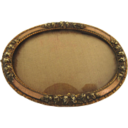 19th or Early 20th Century Smqll Pink Enamel Picture Frame