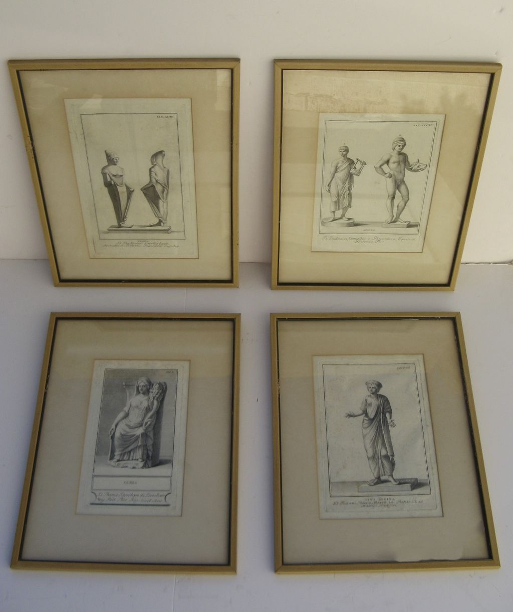 Set of Four Early Engravings Depicting Classical Roman Motifs