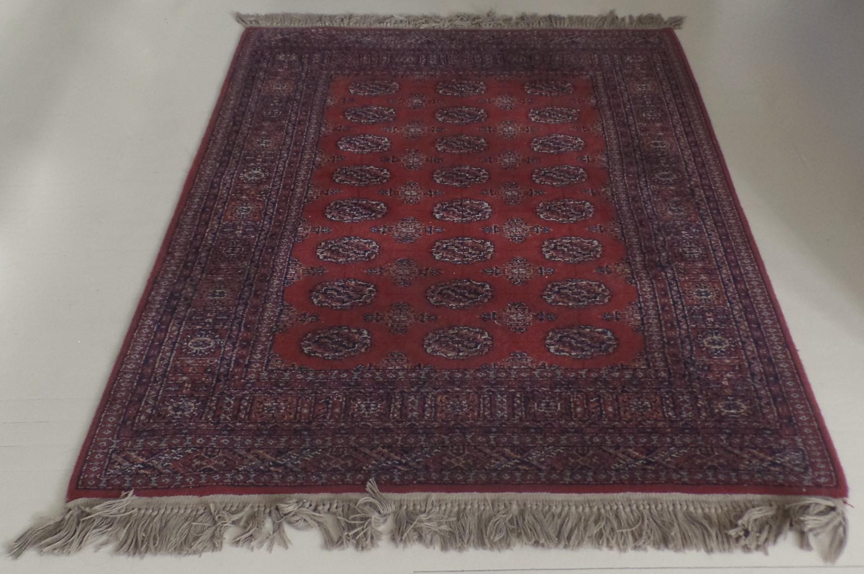 Vintage All Wool Karastan Bokhara Area Rug Fringe 4 3 By