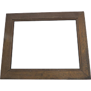 1900's Muted Gold Large Picture Frame