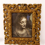 Vintage Gilt Frame Cushion Pierced
