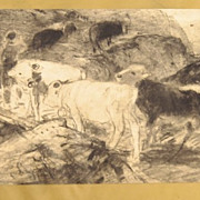 Pencil Sketch by Herman Hartwich 1853-1926