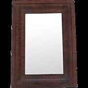 American Empire Walnut Framed Mirror