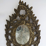 Italian 18th Century Carved Mirror