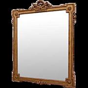 French Louis XVI Style Gilt Over Mantel Mirror